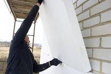 Утепление стен домов пенопластом в Херсоне
